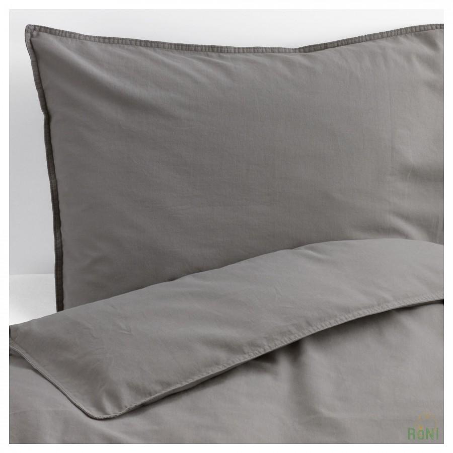 Комплект постільної білизни ÄNGSLILJA 304.012.61 сірий 160 200 70 80 IKEA ae1cc2b56fc2f