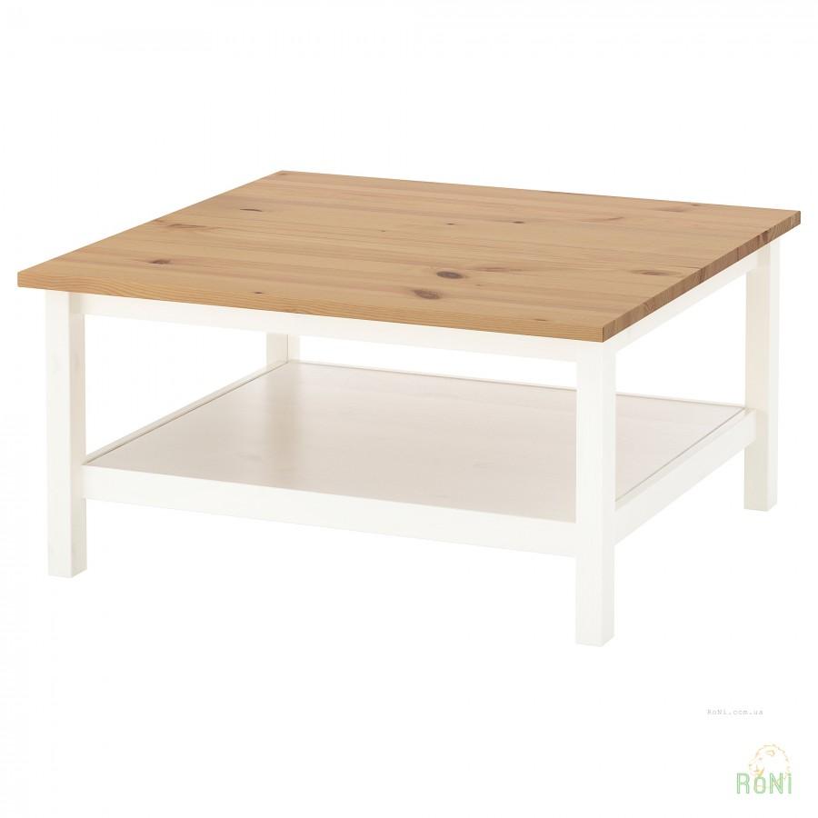 журнальный столик белыйсветло коричневый Hemnes Ikea 30413495