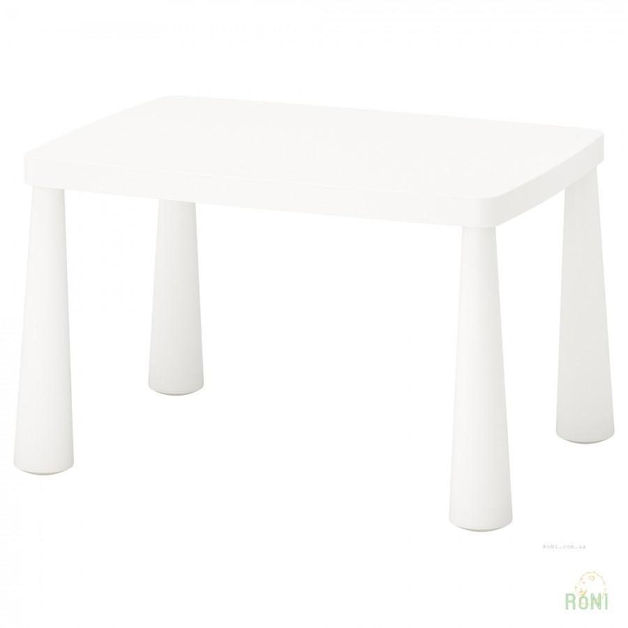 стол детский Mammut Ikea белый прямоугольный 50365177 цена купить
