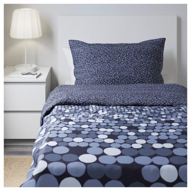 Комплект постільної білизни SMÖRBOLL сірий 804.033.90 160 200 70 80 IKEA f903e6c062dd0