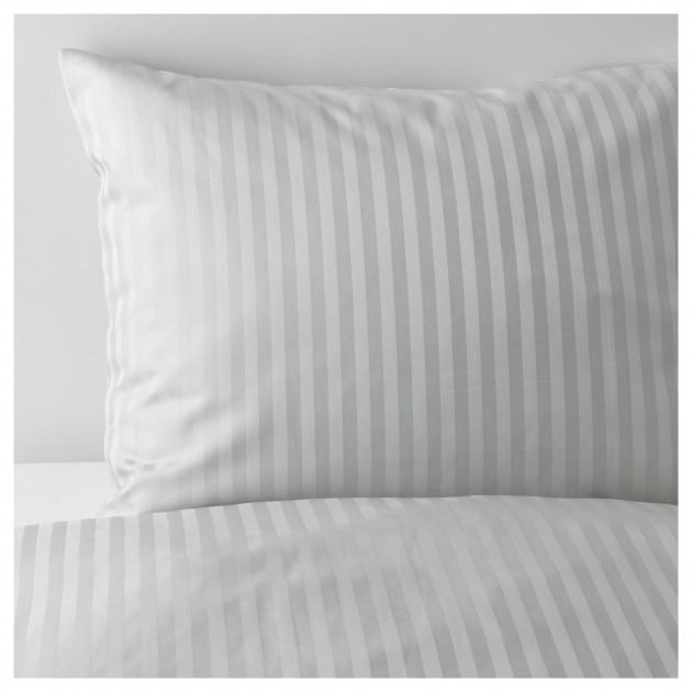 Комплект постільної білизни NATTJASMIN 103.371.48 світло-сірий  150 200 50 60 IKEA 9be6a78a979d8