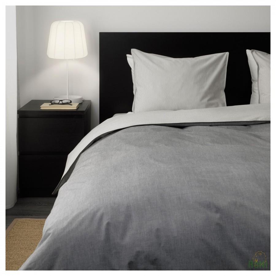 Комплект постільної білизни BLÅVINDA 203.280.49 сірий 200 200 50 60 IKEA 6c8c9e208649b