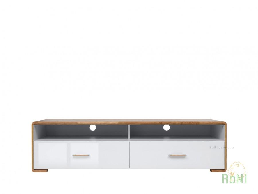 Тумба RTV2S Bari BRW белый глянец / дуб натуральный  купить по 8 808 грн в интернет-магазине товаров для дома RoNi