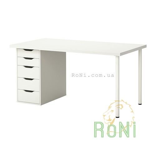 стол письменный белый Linnmon Alex Ikea 39932699 цена купить в
